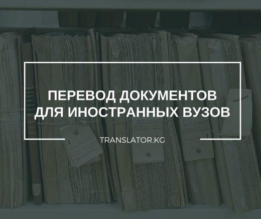 Перевод документов для иностранных вузов